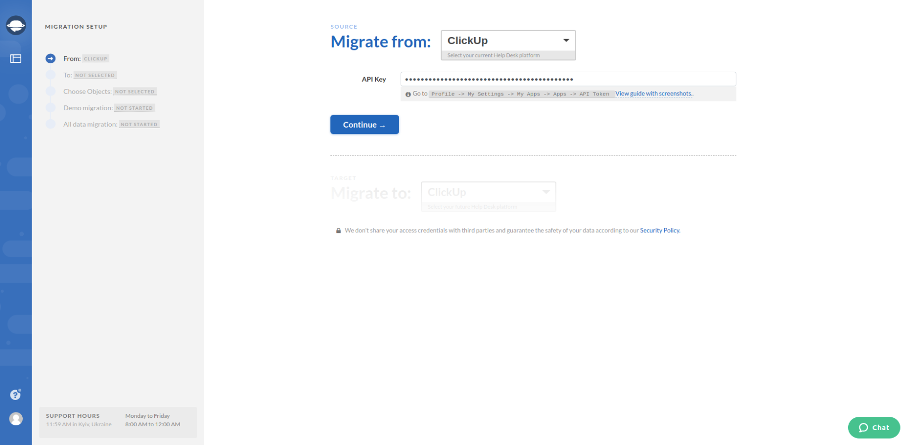Migrating from ClickUp
