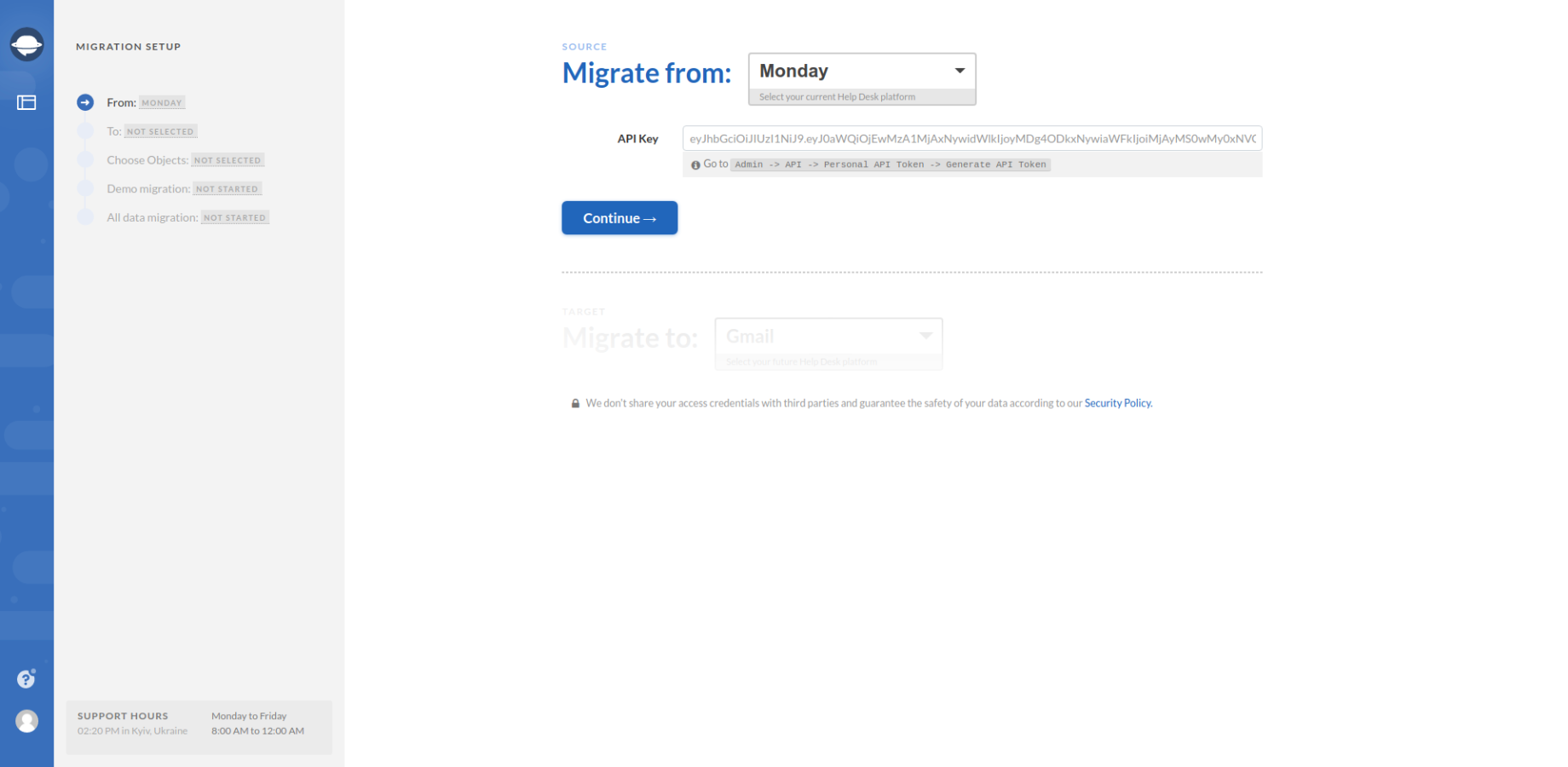 Monday as Data Migration Source