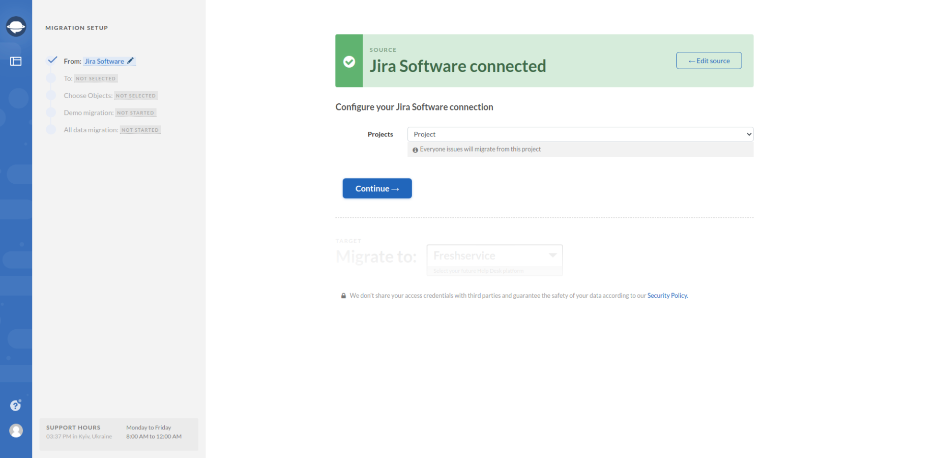 Configure Jira Software Connection