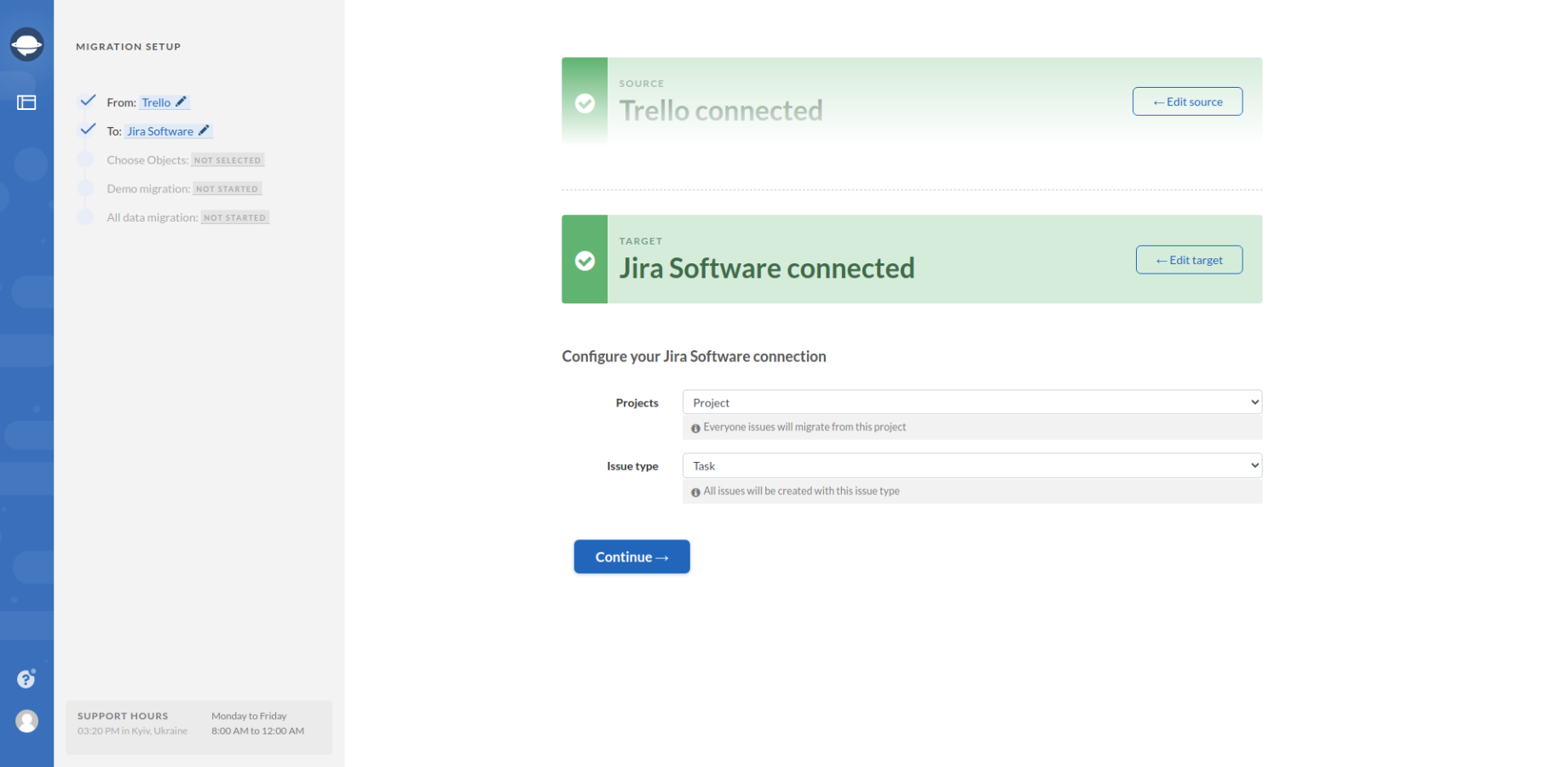 Configuring Jira Software Connection