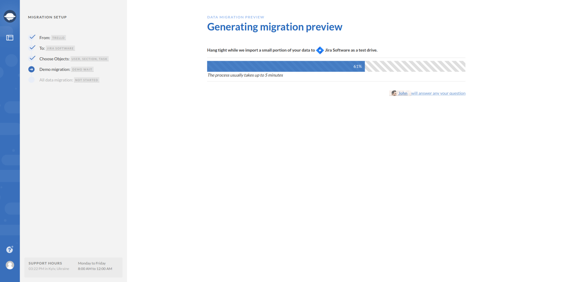 Generating Data Migration Preview