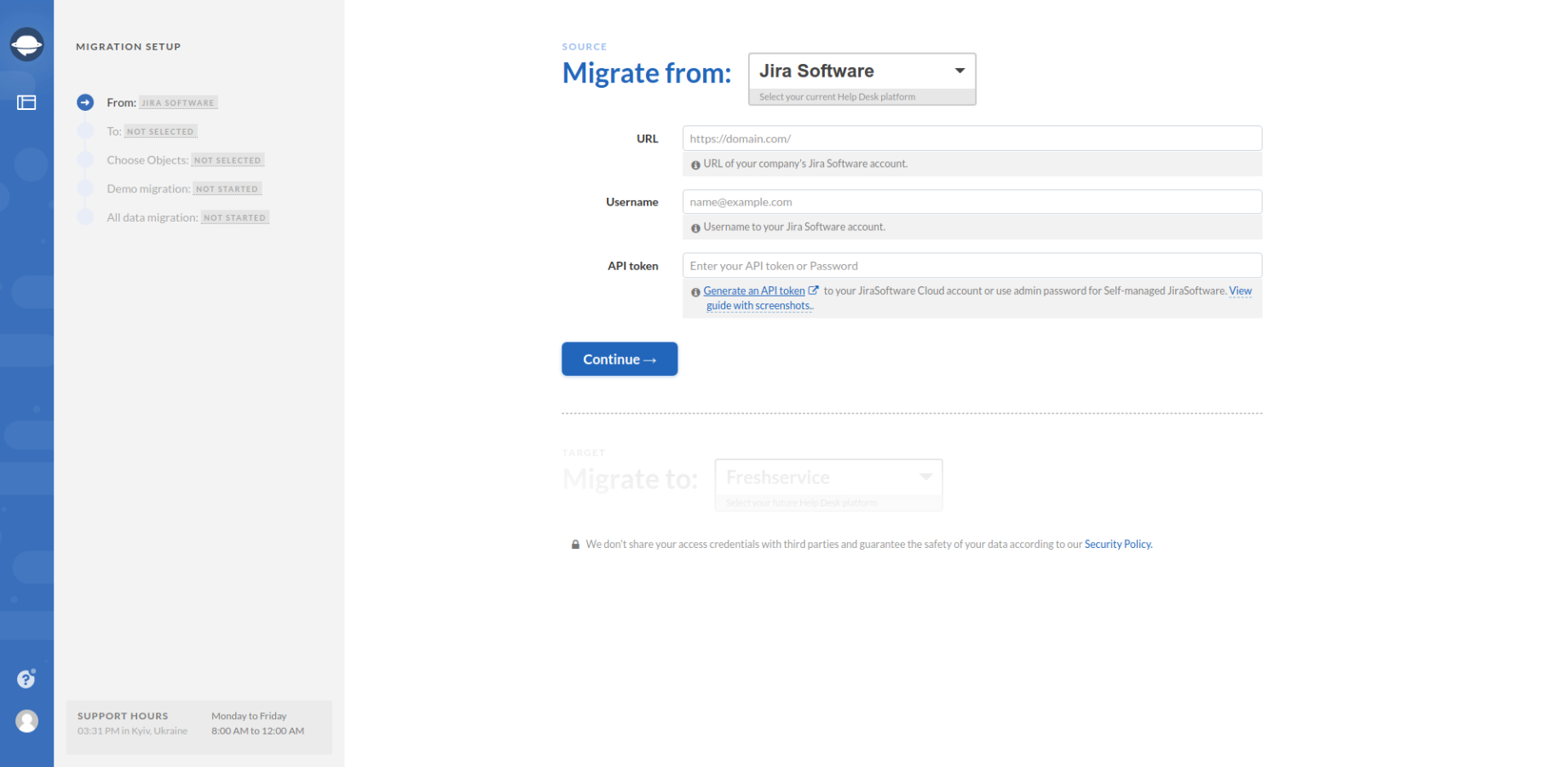 Migrate from Jira Software