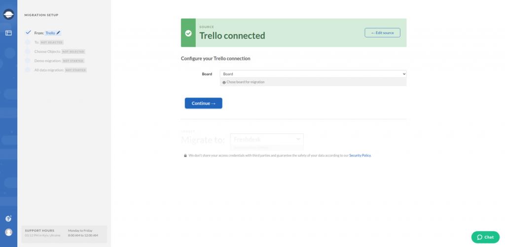 Trello Configurating Connection