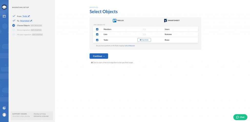 Import Smartsheet Objects