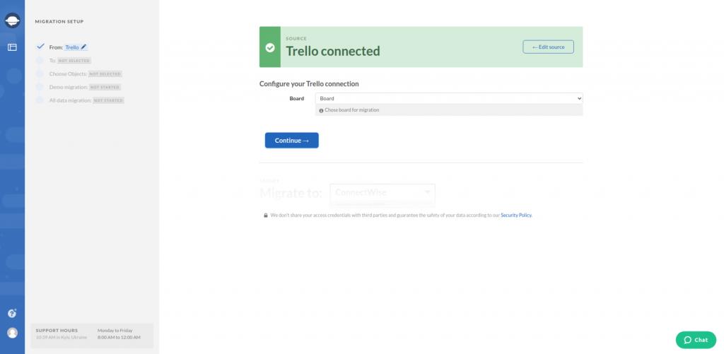 Trello Configure Connection