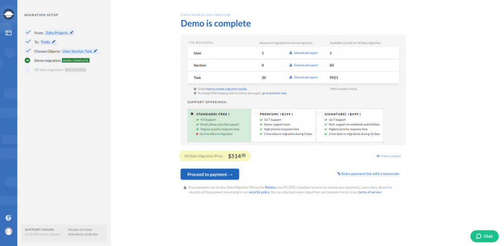 Zoho Projects Export Demo Complete