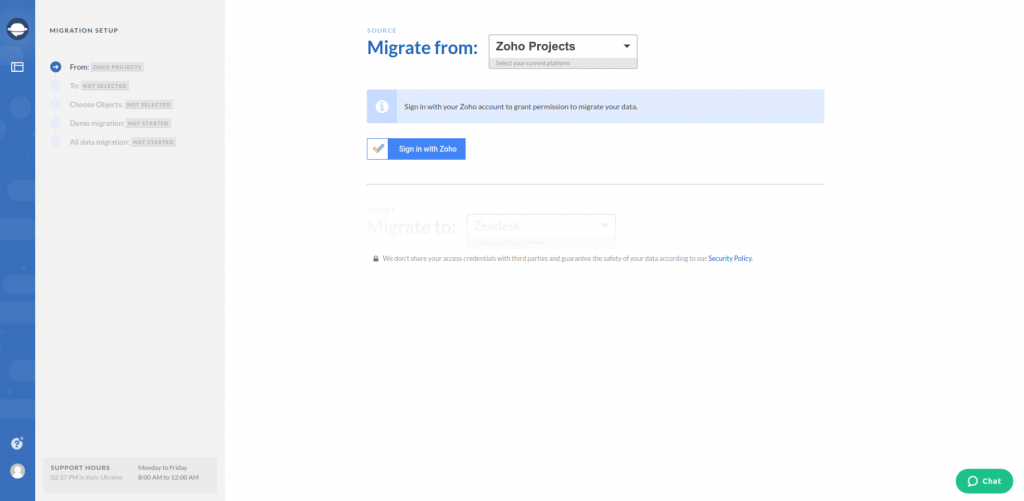 Zoho Projects Export Source